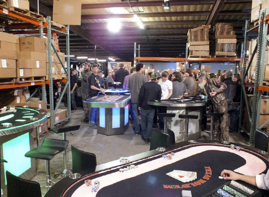 lighted casino party tables for rent