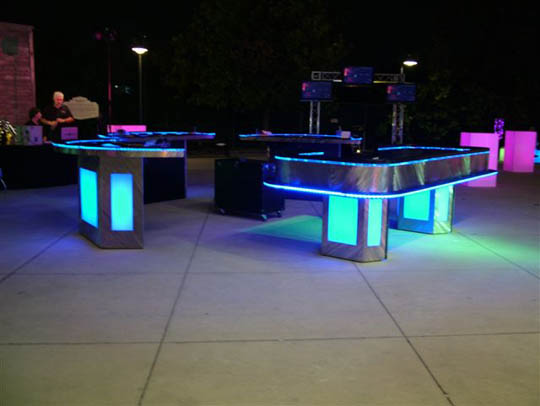 Casino Parties With Lighted Tables Lighted Poker Tables