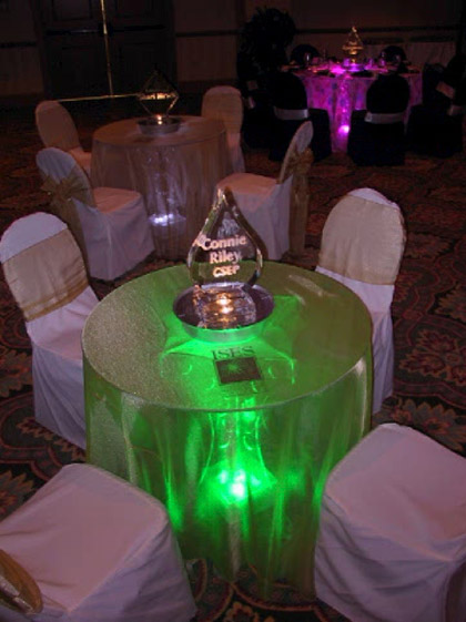 Green, Lighted, Cocktail Tables ( lo-boy ) sit down